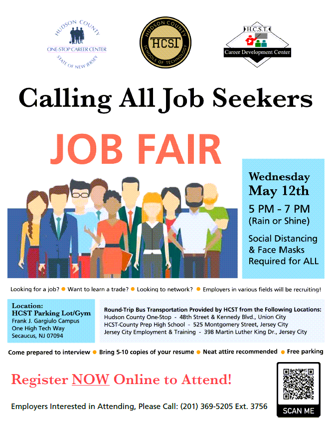 CDC One-Stop Job Fair Flyer - May 12th